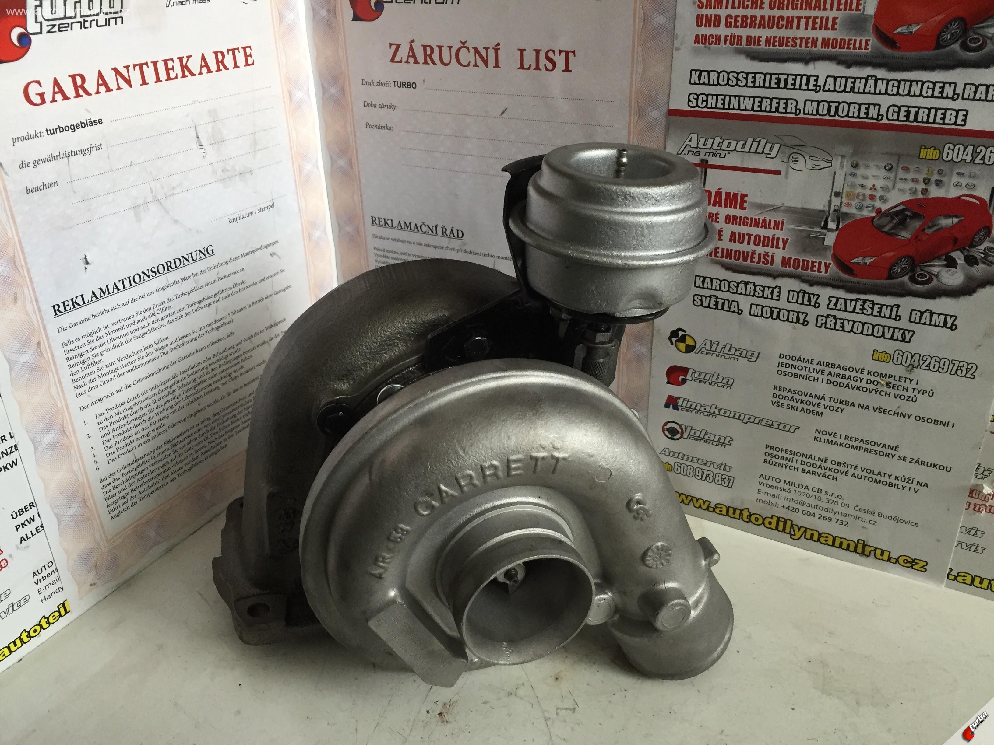 Turbo Renault Mascott 103kw