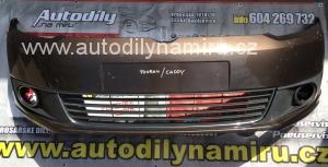 VW Touran/Caddy, přední nárazník, včetně mřížek